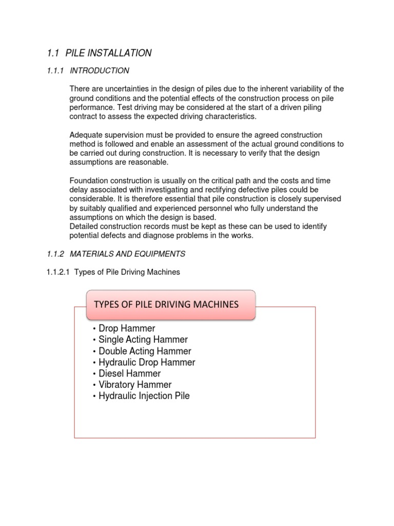 Pile Installation   Deep Foundation   Mechanical Engineering