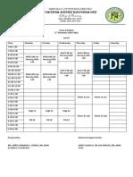 Class Schedule 2nd Sem 2014-2015