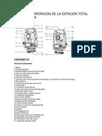 Manual de Operacion de La Estacion Total Sokkia Cx--- Trabajo