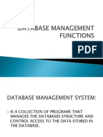 Database Management Functions