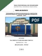 Proyecto Educativo a Nivel de Perfil 2