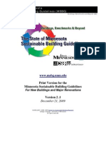 MSBG01-The State of Minnesota Sustainable Building Guidelines (MSBG), 2009