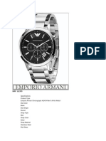 Watches Specifications
