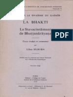 Lilian Silburn - La Bhakti - Le Stavacintamani de Bhattanarayana