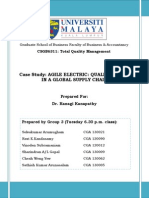 Final - Agile Electric - Quality Issues in a Global Supply Chain