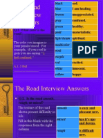 Road Interview Answers