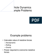 Vehicle dynamics example Problems