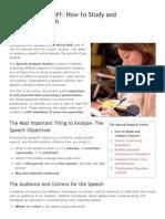Speech Analysis_ How to Critique a Speech