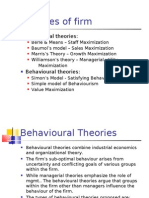 Behavioural Theories of the Firm