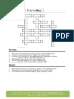 Marketing Crossword 1