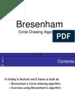 Bresenhams Circle Alg