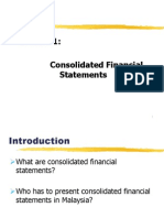Afa2 - Chapter 1 Consolidation of financial statements