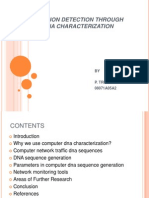 Intrusion Detection through DNA