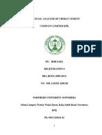 Financial Statement Analysis of Cherat Cement Company Limited Nowshera Pakistan