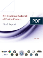 2013 National Network of Fusion Centers Final Report