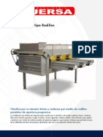 Maquinaria Jersa Clasificadoras de Frutas y Verduras Ficha Tecnica Clasificadora Tipo Rodillos 833792