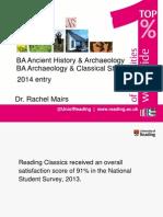 2014 Joint Archaeology Degree Programme Talk Slides
