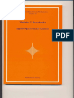 (Applied Quaternionic Analysis 28 Research and Exposition in Mathematics) Vladislav v. Kravchenko. 28-Heldermann Verlag (2003)