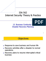 13. Business Continuity& Disaster Recovery Planning
