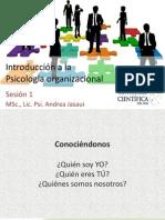 Sesión 1 Psicologia Organizacional