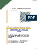 Aula 04 - A Estrutura Dos Solidos Cristalinos(1)