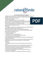 SAA Operation Smile Club Constitution