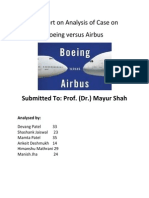 Analysis for Case study of Boieng Vs Airbus