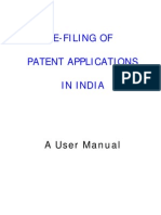 E-filing User Manual PATENT APPLICATIONS