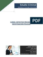 Curso Detective Privado e Investigacion Policial