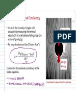 Dimensional Consistency (Stokes)(1)