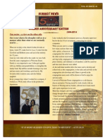 FIRST EDITION OF OUR CONGREGATION NEWSLETTER
