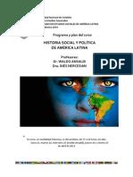 Historia Politica y Social de America Latina Programa 2014