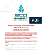Eco 16 Thru Eco 27 Owners Manual
