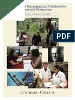 Summer Research Symposium Program 2014