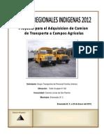 Proyecto de Camion Para Transportes Familia Jimenez