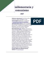 Socialdemocracia y Comunismo