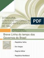 Ditadura APRESENTAÇÃO