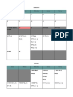 Recalendarización 2 Semestre y Anuales 2014