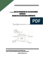 Problemas de la Ingenieria de las reacciones quimicas resuelto con Metodos Numericos