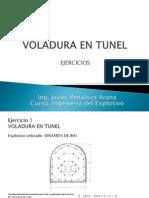 Ejercicio Voladura en Tunel