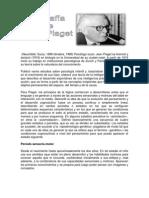 Biografías de Piaget y Vigotsky