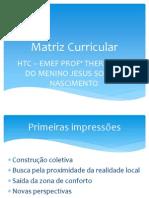 Matriz Curricular apresentação.ppt