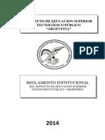 REGLAMENTO INSTITUCIONAL 2014