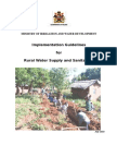 Rural Water Supply & Sanitation Guidelines