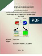 Informe_Uso Del Microscopio Compuesto y Coloracion de Bacterias_2014