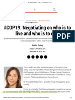 #COP19_ Negotiating on Who is to Live and Who is to Die