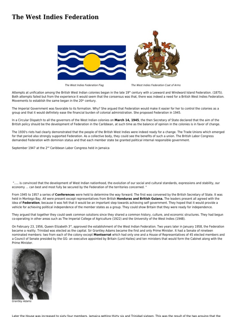 944 The West Indies Federation Cxc