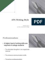 APA Writing Stylejuly2011
