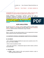 Modelo Ação - Anulatória Com Execução Fiscal Em Curso, Penhora Feita e Embargos Imtempestivos