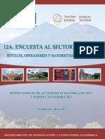 12a. encuesta al sector turismo